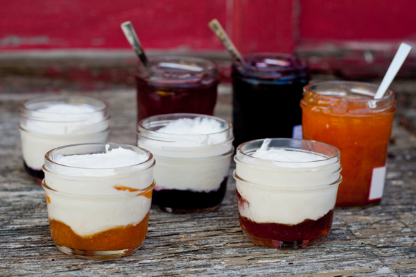 Little pots of jam and cream for Real Women of Philadelphia by Mardi Michels eatlivetravelwrite.com