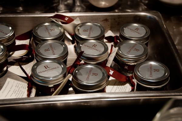 Mini mason jars at Renaissance Toronto Downtown Hotel Mardi Michels eatlivetravelwrite.com