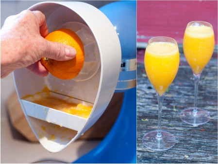 KitchenAid juicer attachment and mimosas Mardi Michels eatlivetravelwrite.com