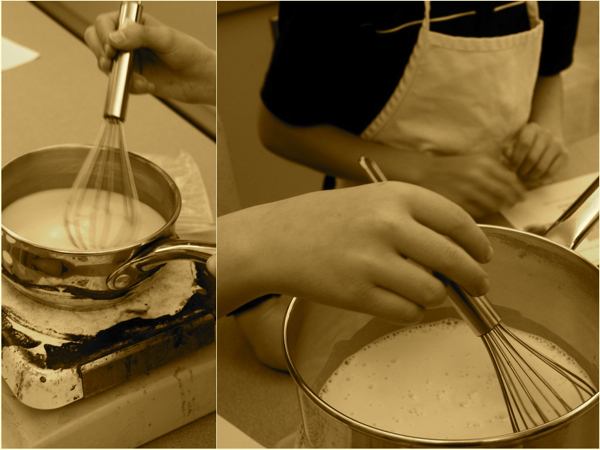 Making coconut gel with Chef John Placko Les Petits Chefs Mardi Michels eatlivetravelwrite.com