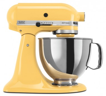 Kitchen Aid Stand Mixer in Yellow