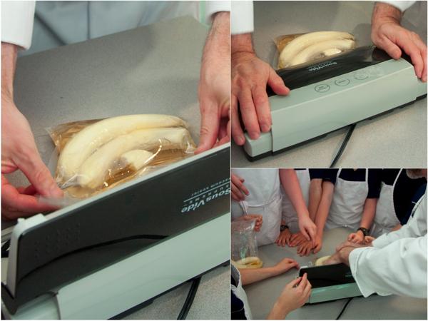 Sous vide bananas with Chef John Placko Les Petits Chefs Mardi Michels eatlivetravelwrite.com