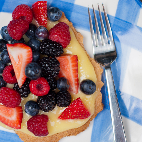 sable Breton with lemon curd and berries from Around my French Table by Mardi Michels eatlivetravelwrite.com