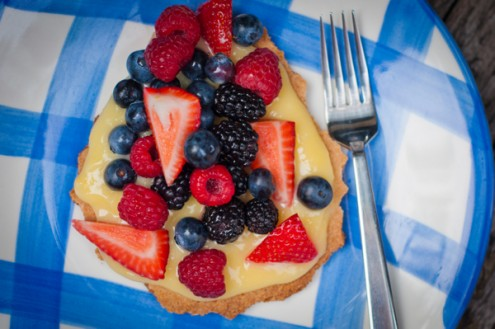 sable Breton with lemon curd and berries for French Fridays with Dorie by Mardi Michels eatlivetravelwrite.com