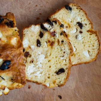 Back-of-the-card cheese & olive bread from Dorie Greenspan's Around my French Table for French Fridays with Dorie on eatlivetravelwrite.com