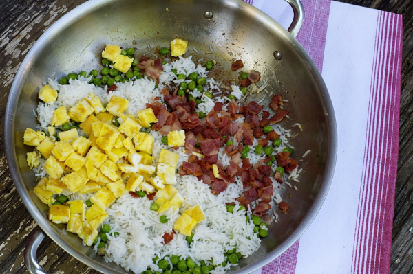 Bacon and egg fried rice Mardi Michels eatlivetravelwrite.com