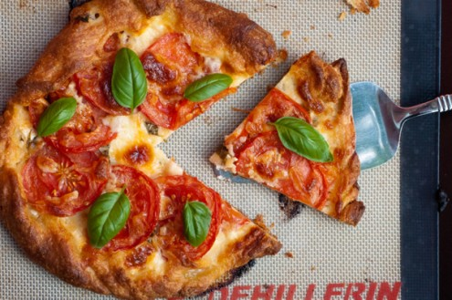 cheese and tomato galette with basil on eatlivetravelwrite.com