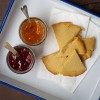 Socca with preserves for French Fridays with Dorie on eatlivetravelwrite.com