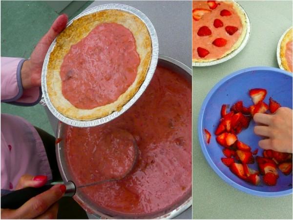 Emily Richards strawberry rhubarb yoghurt pie cooking with kids Mardi Michels eatlivetravelwrite.com