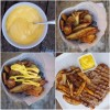 Homemade mayonnaise with oven baked fries and grilled steak Mardi Michels eatlivetravelwrite.com