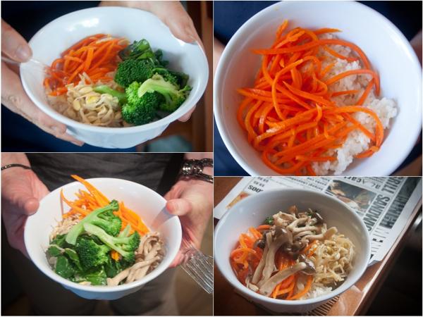 Korean bibimbap bowls from Seoul Food Toronto Mardi Michels eatlivetravelwrite.com