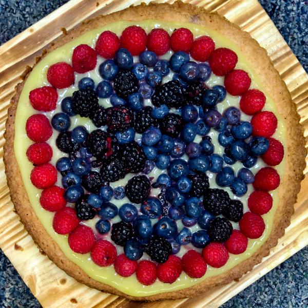 Dorie Greenspan sable Breton galette with berries for French Fridays with Dorie from Around my French Table by Mardi Michels eatlivetravelwrite.com