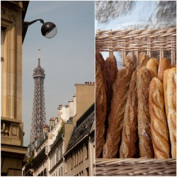 Baguettes and Eiffel Tower on eatlivetravelwrite.com