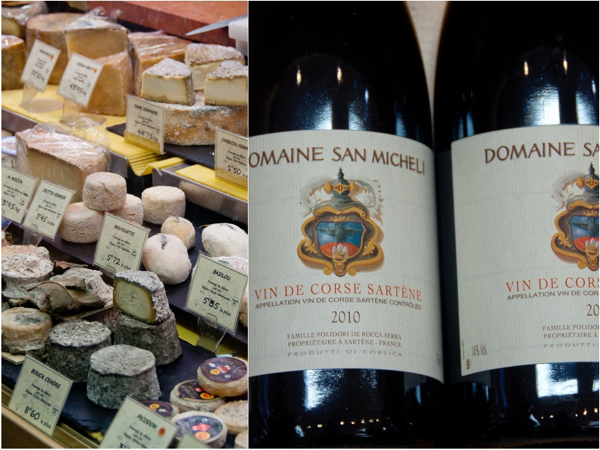Corsican cheese and wine on eatlivetravelwrite.com