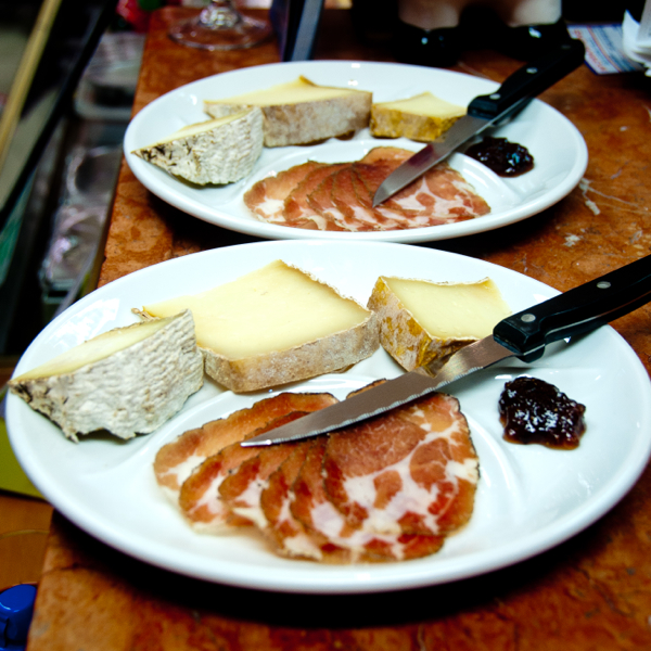Corsican cheese and charcuterie on eatlivetravelwrite.com