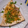 Dorie Greenspan's swordfish with frilly herb salad on eatlivetravelwrite.com
