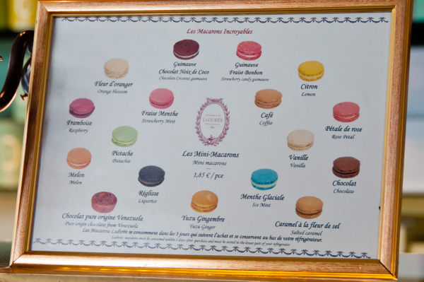 Flavours of macarons at Laduree on eatlivetravelwrite.com