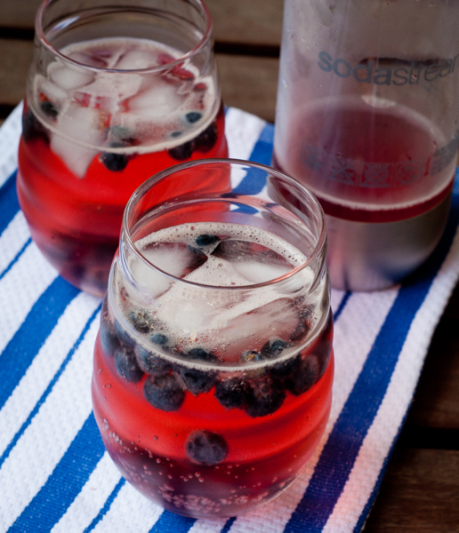 SodaStream Source with pomegranate and blueberries on eatlivetravelwrite.com