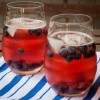 SodaStream Source pomegranate fizz with blueberries on eatlivetravelwrite.com
