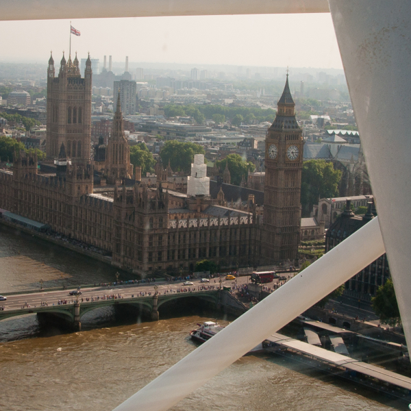 A view from near the top of The London Eye on eatlivetravelwrite.com