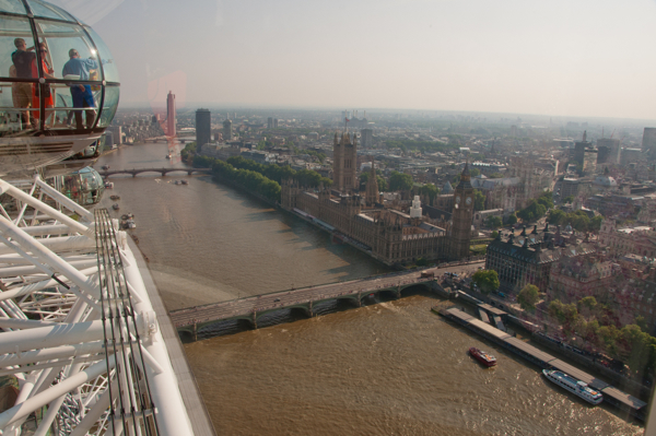 Right at the top of The London Eye on eatlivetravelwrite.com