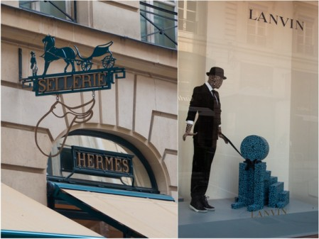 Hermes and Lanvin in Paris on eatlivetravelwrite.com