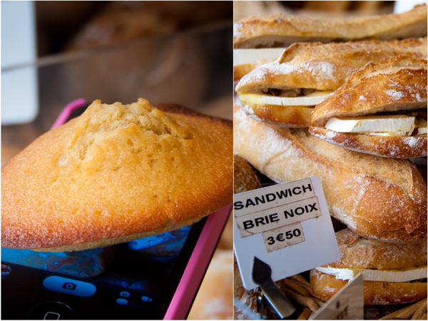 Madeleine and sandwich brie noix on eatlivetravelwrite.com