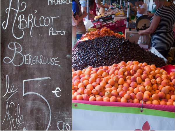 Apricots at the Versailles market on eatlivetravelwrite.com
