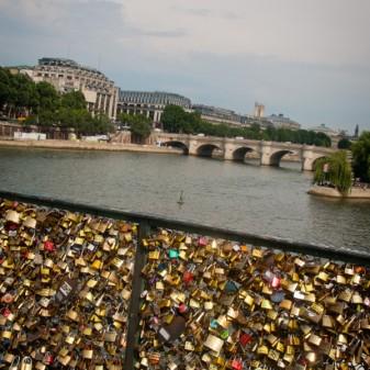 Love locks in Paris on eatlivetravelwrite.com