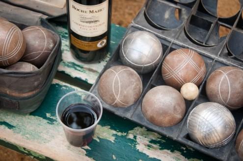 Petanque and red wine in Paris on eatlivetravelwrite.com