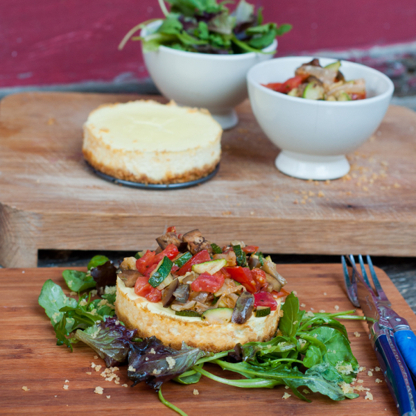 Savoury Philly cheesecake by eatlivetravelwrite.com
