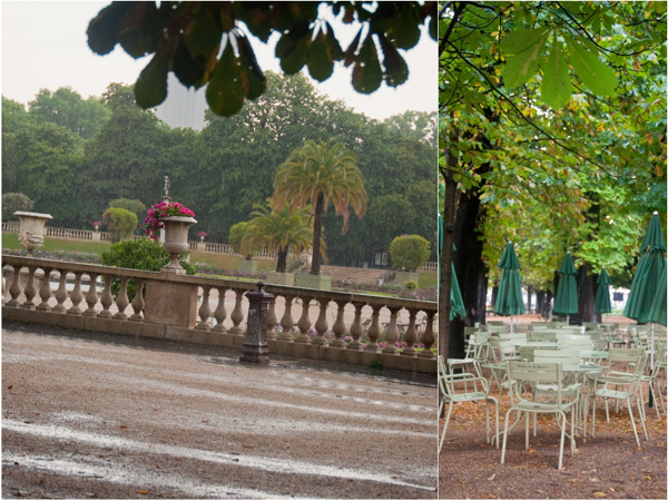 Luxembourg Gardens in the rain Paris on eatlivetravelwrite.com