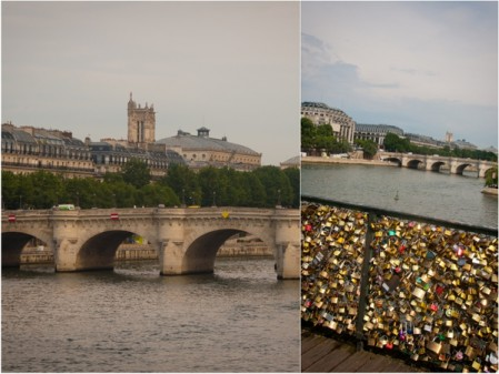 Pont des Arts love locks on eatlivetravelwrite.com