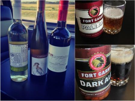 Beer and wine tasting on VIA Canadian on eatlivetravelwrite.com