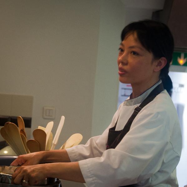 Chef Diane at La Cuisine Paris on eatlivetravelwrite.com