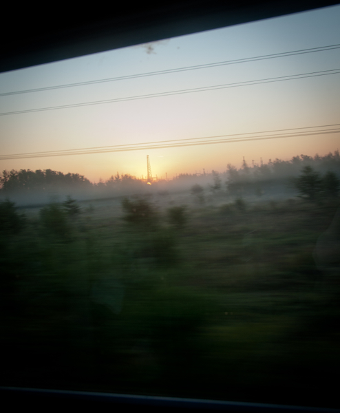 Sunrise on the VIA Rail Canadian on eatlivetravelwrite.com