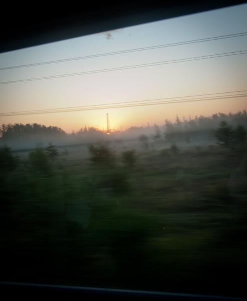 Sunrise on the VIA Rail Canadian on eatlivetravelwrite.com