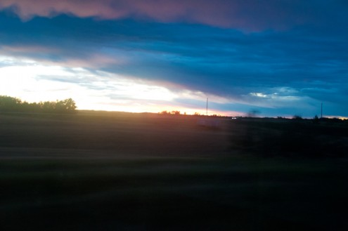 Sunrise on VIA Rail Canadian on eatlivetravelwrite.com