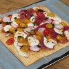 Dorie Greenspan's Fresh Tuna, Mozzarella and Basil Pizza on eatlivetrav
