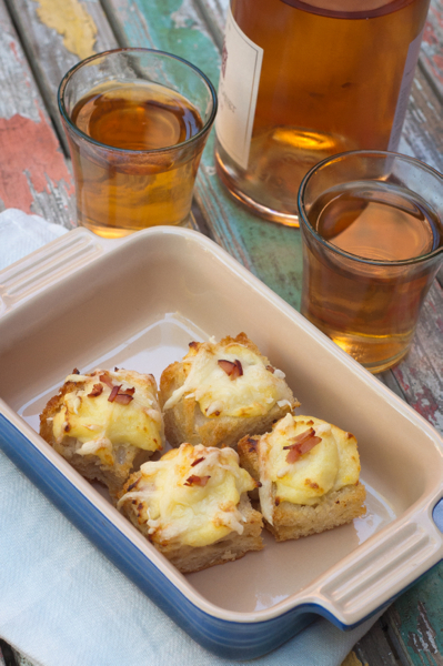 Croque monsieur bites and rose on eatlivetravelwrite.com