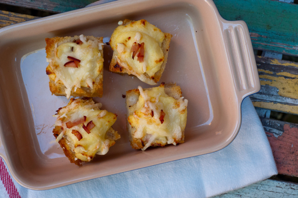 Aperitif sized croque monsieur bites on eatlivetravelwrite.com