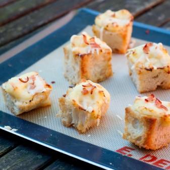 Mini croque monsieur bites on eatlivetravelwrite.com