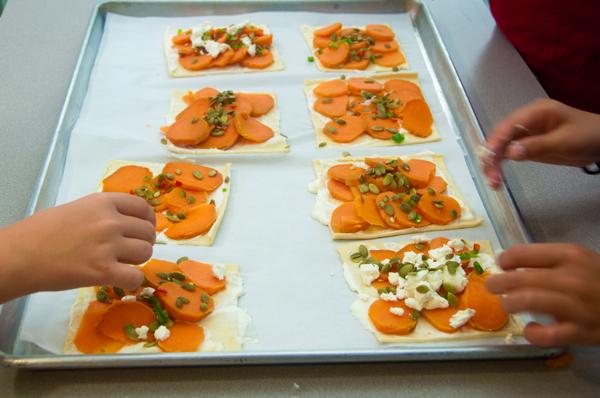 Topping Ottolenghi sweet potato galette on eatlivetravelwrite.com
