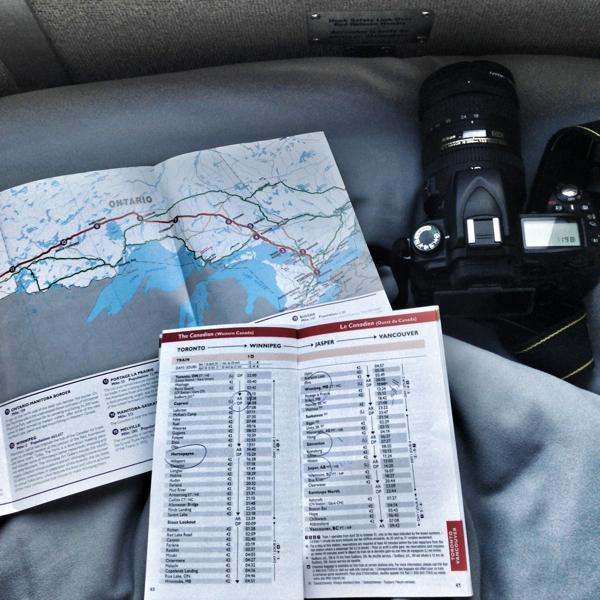Maps and timetables on VIA Rail Canadian on eatlivetravelwrite.com