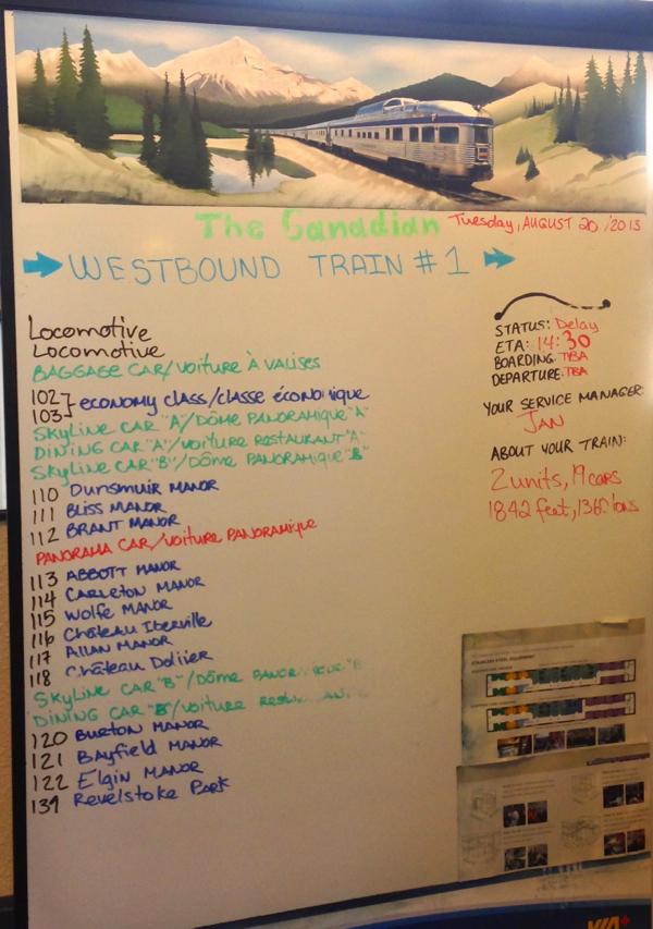 Map of the VIA Rail Canadian at Jasper Station on eatlivetravelwrite.com