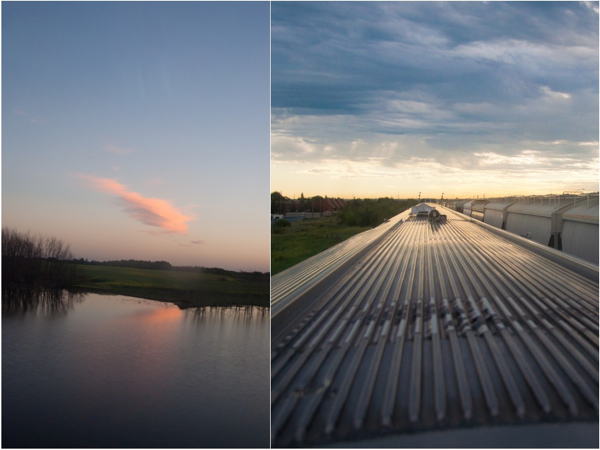 Sunset aboard the VIA Rail Canadian on eatlivetravelwrite.com