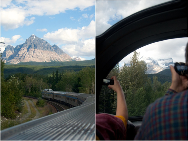 Views on board the VIA Rail Canadian heading to Jasper
