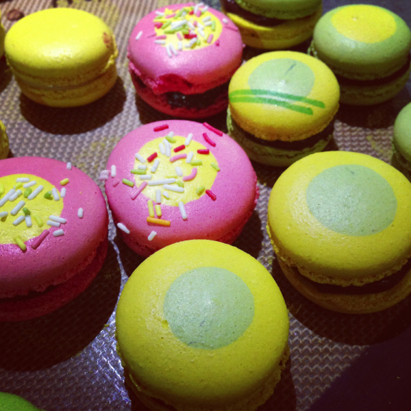 Decorated macarons at La Cuisine Paris on eatlivetravelwrite.com
