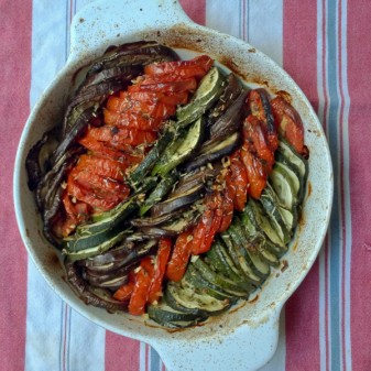 Ratatouille tian from The French Market Cookbook on eatlivetravelwrite.com