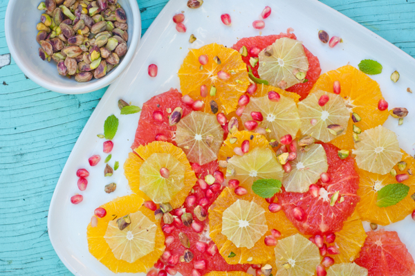 Moroccan Citrus Salad from Pomegranates and Pine Nuts on eatlivetravelwrite.com